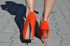orange for your soles: hot shoes |