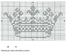 """point de croix """" couronne royale """"  épinglé sur le site  """"trésors de boites à couture """""""