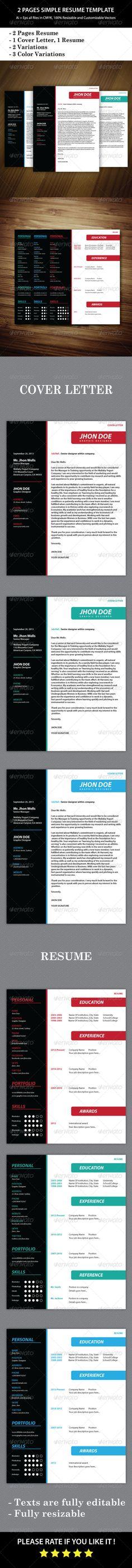 Satria Modern Resume Set Modern resume, Creative resume - photoshop resume template