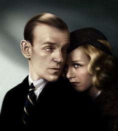 Fantastic art piece of Fred Astaire