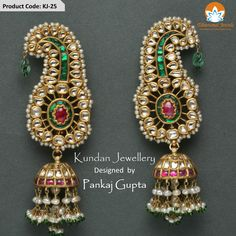 Kundan Jhumka with its elaborate and exquisite design and perfect choice of jewels makes it a prize possession for ladies.