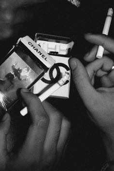 i don't really smoke anymore, but i'd totally take it up again for some Chanel cigarettes... #ClassyBitch