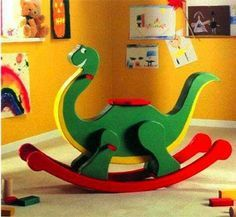I always thought a rocking horse was something only rich kids had when they were growing up, but these days they can be affordable to just about everyone. But why settle for a rocking horse when yo… Woodworking Toys, Woodworking Workshop, Woodworking Projects, Woodworking Chisels, Intarsia Woodworking, Woodworking Basics, Woodworking Techniques, Woodworking Furniture, Wooden Plane