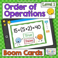 Order of Operations Level 1 self-checking digital Boom Cards are an exciting way for kids to practice basic order of operation skills. Some problems have parentheses, but none have exponents. These interactive task cards are perfect for classroom use and distance learning at home!  #BoomCards #DigitalTaskCards #DistanceLearning #Mathboomcards #MathFun #Orderofoperations Teacher Hacks, Best Teacher, Engage In Learning, Order Of Operations, 5th Grade Math, Common Core Standards, Elementary Education, Fun Math, Task Cards