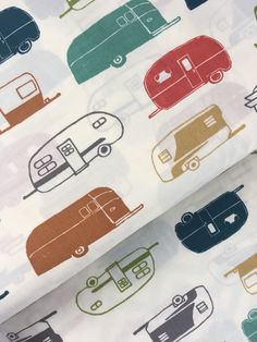 Birch Organics cotton fabric - Camper Rally. All fabrics cut fresh from the bolt. 100% quilting weight ORGANIC cotton. | eBay!