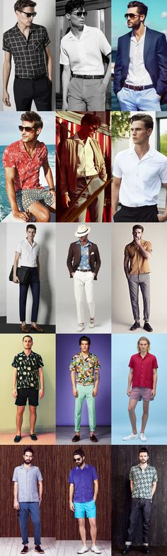 Men's Cuban Collar Shirts Lookbook Inspiration