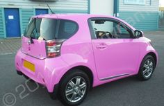 Toyota IQ fully wrapped in a gloss pink vinyl car wrap by Totally Dynamic North London My Dream Car, Dream Cars, North London, Scion, Small Cars, Car Wrap, Boats, Toyota, Bike