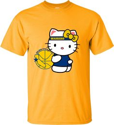 Hello Kitty Golden state  champions Warriors  Tee shirt basketball love sport nice cute by GoCustom on Etsy