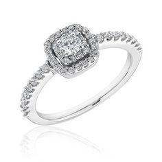 Cushion Frame Diamond Engagement Ring 1/2ctw - Item 19281567   REEDS Jewelers
