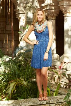 Hello, Lovely! Spring 2015: Violets Are Blue Dress and Flowers Forever Scarf
