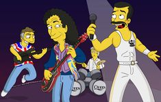 Queen on the Simpsons! Not too sure about the likenesses though lol.