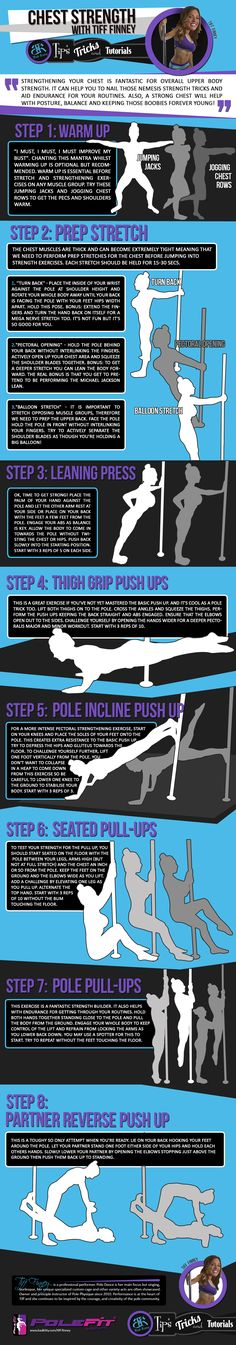 We teamed up with our Brand Ambassadors to bring you a series of tips and tricks to help you with your pole training. Here is Tips and Tricks #5: Chest Strength with Bad Kitty® Brand Ambassador Tiff Finney.