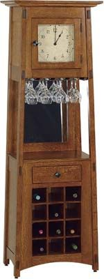 Amish Wine Rack Cabinet Clock with Bar Area Hardwoods Collection Our Amish Furniture McCoy Wine Rack is the perfect place for storing your wine, liquor, glassware and bar accessories. This unique grandfather clock will compliment any room it is in. Craftsman Furniture, Amish Furniture, Solid Wood Furniture, Furniture Making, Furniture Design, Bedroom Furniture, Wine Furniture, Refinished Furniture, Solid Wood Kitchen Cabinets