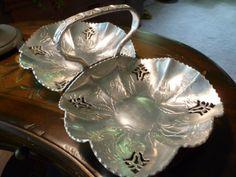 Vintage Aluminum Twin Basket Serving Tray/Dish Mid Century   RefinedVintage - Kitchen & Serving on ArtFire