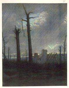 Christopher Richard Wynne Nevinson-Reclaimed Country, from British Artists at the Front, Continuation of The Western Front, 1918
