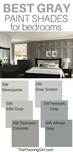 gray paint shades for the bedroom. Best gray paint shades for the bedroom. Best Gray Paint, Best Paint Colors, Grey Paint Colors, Best Greige Paint Color, Best Interior Paint, Interior Paint Colors, Interior Painting, Painting Bedrooms, Bathroom Paintings