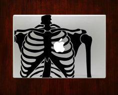 Skeleton Anatomy Geeky & Nerdy Macbook Pro / Air 13 Decal Stickers
