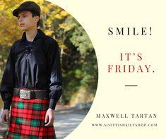💖✨Smile! It's Friday.💖✨ An emblem of the Maxwell family slogan. The Maxwell tartan is red, bottle green, and black in color and emanates a glory like none other.🌹 #scottishkilt #maxwell #maxwelltartan #kiltmaker #kilts #meninkilts #tartan #tweed #scottishfashion #madeinscotland #luxuryscotland #scotland #kiltsformen #tartankilt #sporranmaker #sporrans #lovescotland #kiltmaking #pinterest #pinterestinspired #pinterestpin