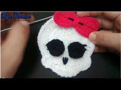 ▶ Caverinha Monster High em crochê para apliques - YouTube