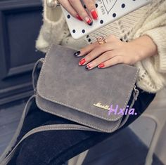 Free shipping, 2017 new women shoulder bag, Korean version of the simple frosted bag, fashion casual woman messenger bag.
