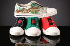 Gucci has the look for summertime fun! Kids sneakers for every style!