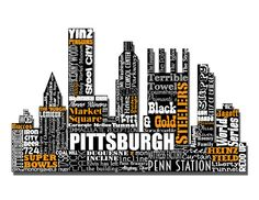 Pittsburgh Pennsylvania Yinz Steelers Penguins by LexiconDelight