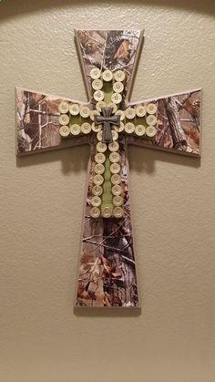 Camo and shotgun shells cross