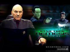 Star Trek: Nemesis wallpaper with Patrick Stewart, Brent Spiner & Jonathan Frakes