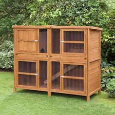 The Chartwell Luxury Rabbit Hutches are one of Scratch and Newton's best selling rabbit hutches. A spacious two floor dwelling, it's ideal for one or even two Rabbits or Guinea Pigs. Gerbil, Guinea Pig Hutch, Guinea Pigs, Double Rabbit Hutch, Hay Feeder, Large Rabbits, Indoor Rabbit, Bunny Cages, Rabbit Hutches