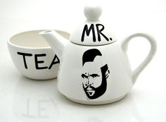 Mr. T Tea For One    Sometimes the clashing of diverse worldscreates a sort of magnificent (read: hilarious) byproduct. Normally a guy who wears more gold around his neck than an Atlantic City craps player wouldn't be the sort to sit down to afternoon teawith tiny cucumber sandwiches and scones, but this Tea For One set with the legendary Mr. T emblazoned on the front lets the two universes play happily together. Complete with cup and pot, if this set is manly enough for B.A. Baracus…