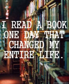 I read a book one day...