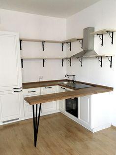 16 New Ideas Garden Kitchen Decor Cuisine Kitchen Ikea, Kitchen Room Design, Home Room Design, Kitchen Living, Interior Design Kitchen, Kitchen Decor, Small Apartment Interior, Condo Interior, Small Apartment Kitchen