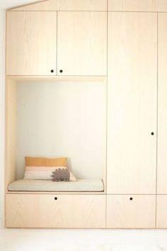Built In Cupboards Living Room, Hallway Cupboards, Mudroom Cabinets, Plywood Cabinets, Plywood Walls, Built In Cabinets, Plywood Furniture, Ceiling Storage, Hallway Storage