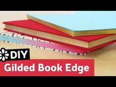 DIY Gilded Book Edge | Sea Lemon - YouTube