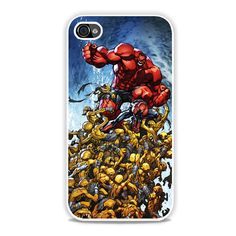 Spiderman And Red Hulk iPhone 4, 4s Case