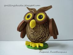 Quilled 3D owl