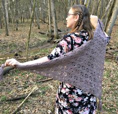 The Maple Forest Wrap is an easy to crochet shawl that is made up of an easy to remember pattern repeat, resulting in an open lace pattern. This shawl is perfect for all seasons and works up very quickly. All Free Crochet, Knit Or Crochet, Crochet Scarves, Crochet Clothes, Easy Crochet, Crochet Blankets, Chrochet, Free Knitting, Shawl Patterns