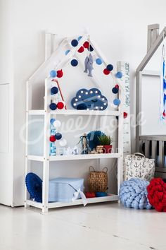 montessori shelf ideas, book shelf, Kids bedroom house shaped shelf or wooden house shelf, nursery shelf Toddler Furniture, Nursery Furniture, Nursery Decor, Organizing Kids Books, Nursery Wall Shelf, Childrens Book Shelves, House Shelves, Thing 1, House Beds