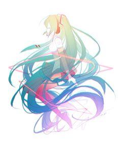 Rainbow miku