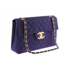 Auth Chanel Rare Purple Vintage Maxi on MALLERIES
