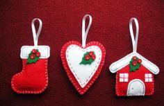Рождественские игрушки из фетра