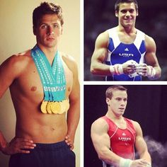 3 most attractive guys in the olympics! I still go for swimmers over gymnasts because both of the gymnast boys are shorter than me. @Jennalee Zlotkowski @Rachel Z