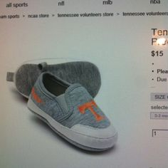 Tennessee Vols baby shoes!!