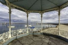 View fromDun Laoghaire Pier Bandstand Dublin, Pergola, Landscapes, Outdoor Structures, Paisajes, Scenery, Outdoor Pergola
