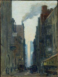 Ernest Lawson. New York Street Scene, 1910