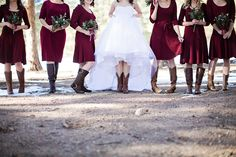 Bridesmaid Dresses, really amazing dress style number 8769087454 - A glamorous dress fashion and idea. Need further super incredible pointers? Please push the pin link 8769087454 immediately. Snow Wedding, Maroon Wedding, Dream Wedding, Wedding Rustic, Christmas Wedding, Inexpensive Bridesmaid Dresses, Burgundy Bridesmaid Dresses, Wedding Bridesmaids, Cowgirl Dresses