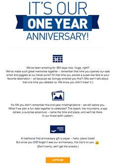 Damn Good Communication: JetBlue Keeps Us Smiling - Jellyvision #marketing #emails #copywriting #advertising