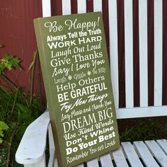 Family Rules painted wood sign by GrabersGraphics on Etsy, $45.00