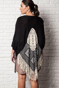 plus size black dream catcher kimono #plussizetops #plussizecardigan #plussizefashion #plussizekimono