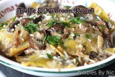 Truffle & Mushroom Ravioli - Nibbles By Nic